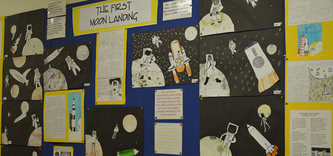 Moon Landing wall display